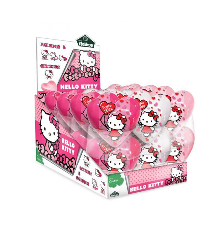 Kẹo trái tim đồ chơi Hello Kitty Relkon 10g