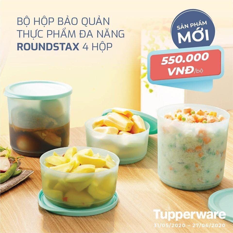 Bộ 4 hộp nhựa đựng thực phẩm Tupperware Roundstax