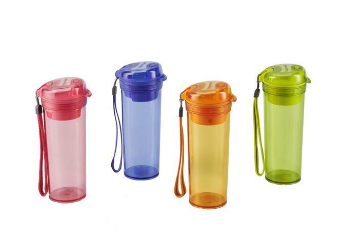 Bình nước Tupperware Drinking Flask Gen 2 đỏ cam 400ml