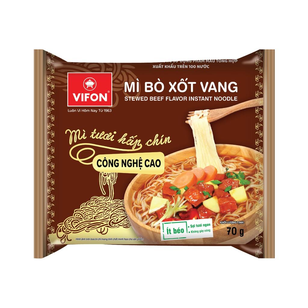 Mì tươi bò xốt vang Vifon 70g * 30 gói