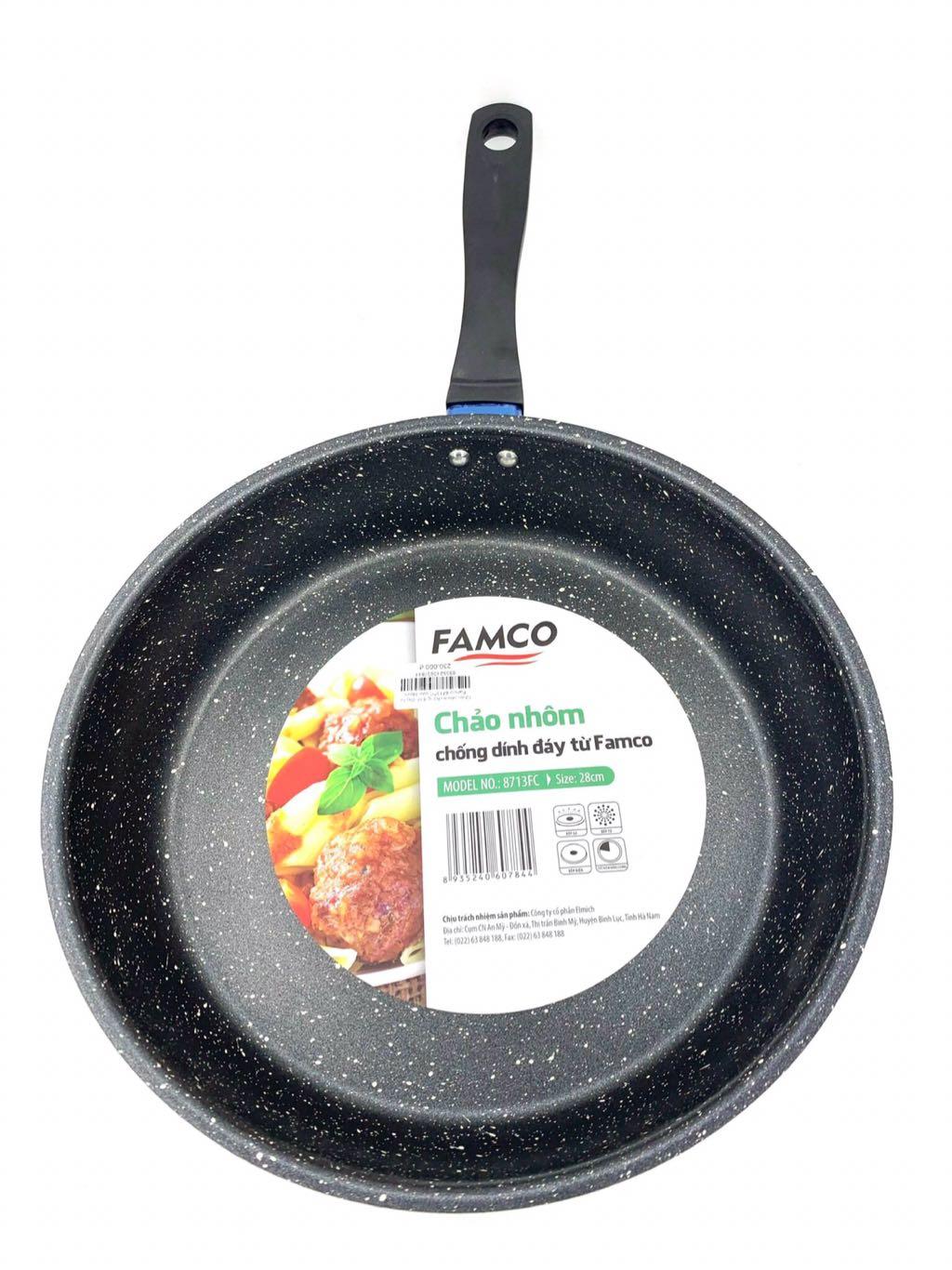 Chảo nhôm chống dính đáy từ Famco 8702FC size 20cm
