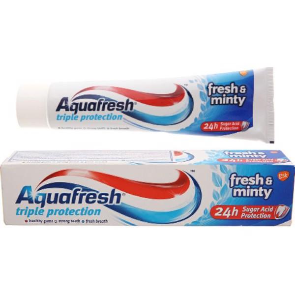 Kem đánh răng Aquafresh bảo vệ nướu, chắc, răng, thơm miệng 100g