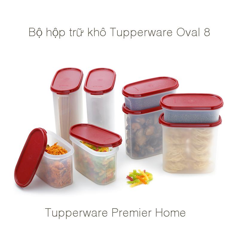 Bộ khô 8 hộp Tupperware Oval
