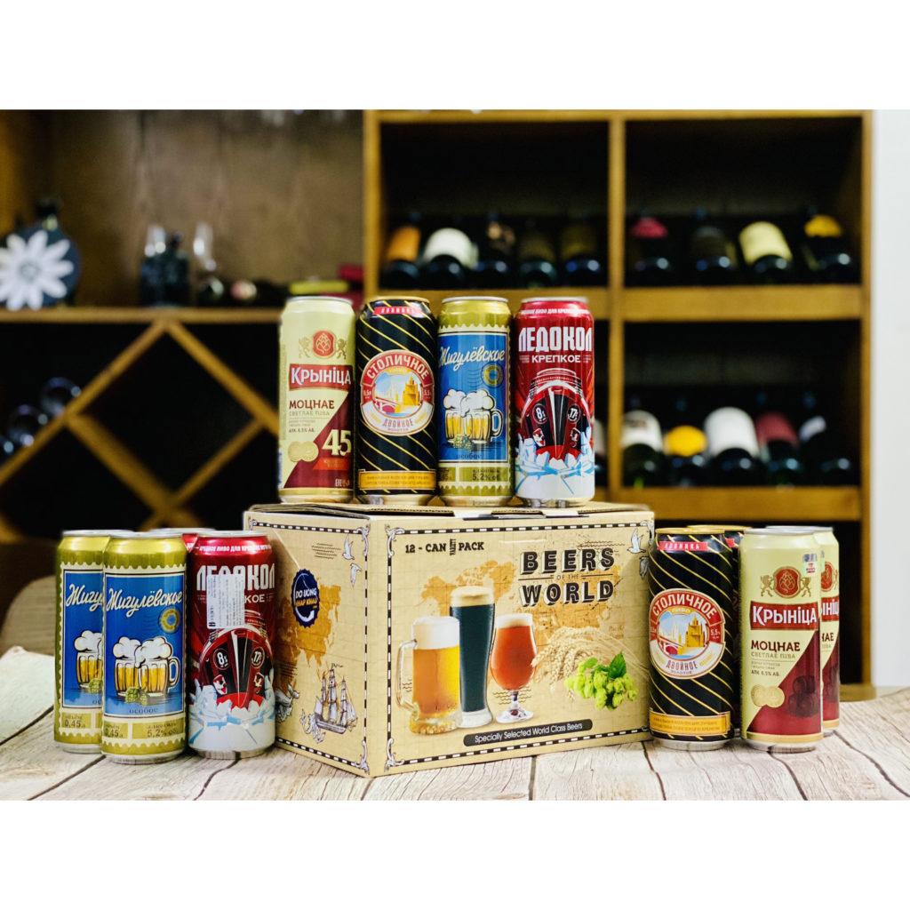 Hộp quà 12 lon Beers World Altenbuger+Leikiem Đức (Mix 3 vị)
