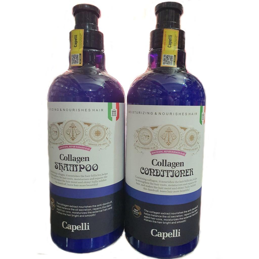 Dầu xả Collagen tươi Capelli 850ml Italy