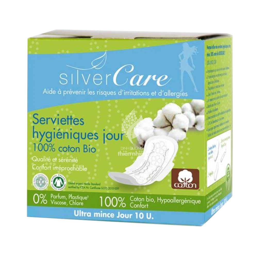 Băng vệ sinh hữu cơ siêu mỏng cánh ban ngày Silvercare 10M Tây Ban Nha