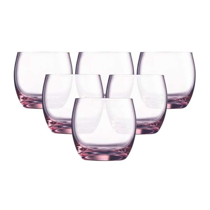 Bộ 6 cốc thấp thuỷ tinh Luminarc Salto Pink 320ml