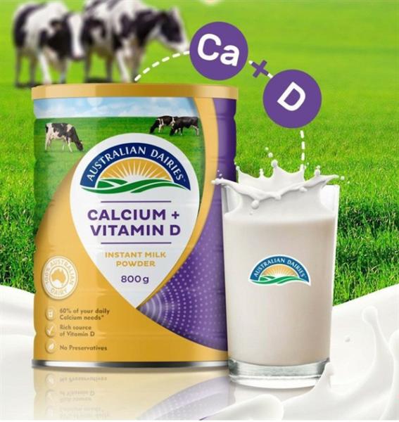 Sữa tươi dạng bột Australian Calcium+Vitamin D 800g