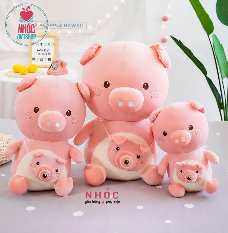 Thú bông Lợn thợ ảnh CLN216 40cm