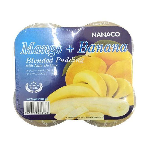 Thạch pudding dừa vị xoài chuối Nanaco 108g