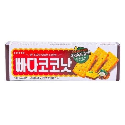 Bánh quy bơ dừa Lotte Hàn Quốc 100g