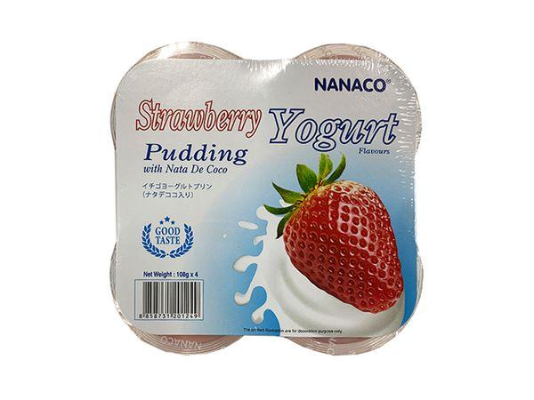 Thạch pudding dừa vị sữa chua dâu Nanaco 108g