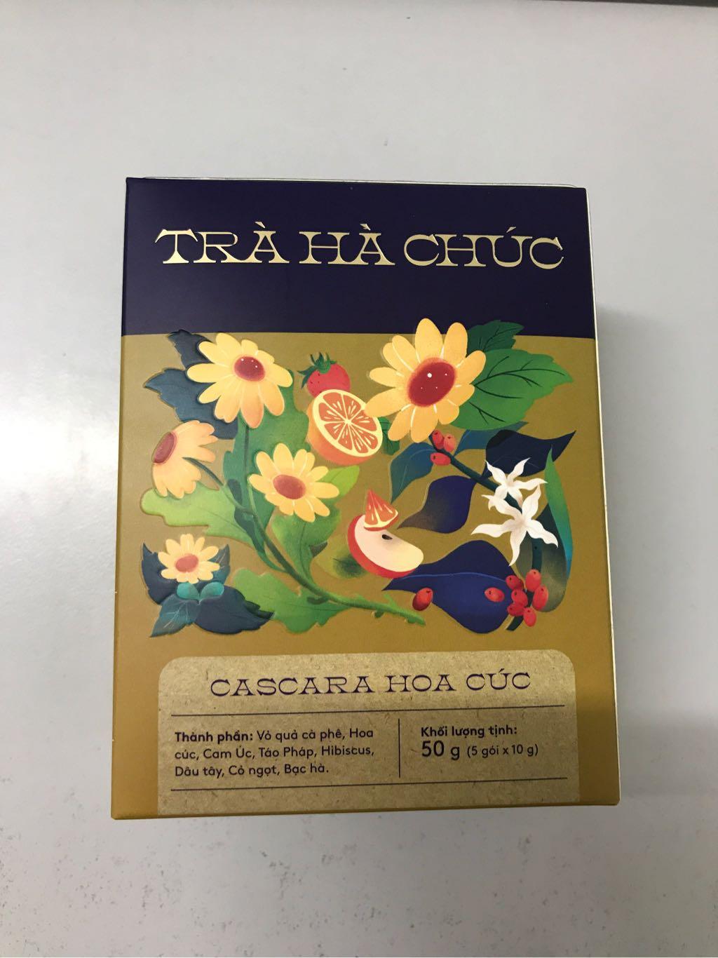 Trà Hà Chúc Cascara hoa cúc 50g