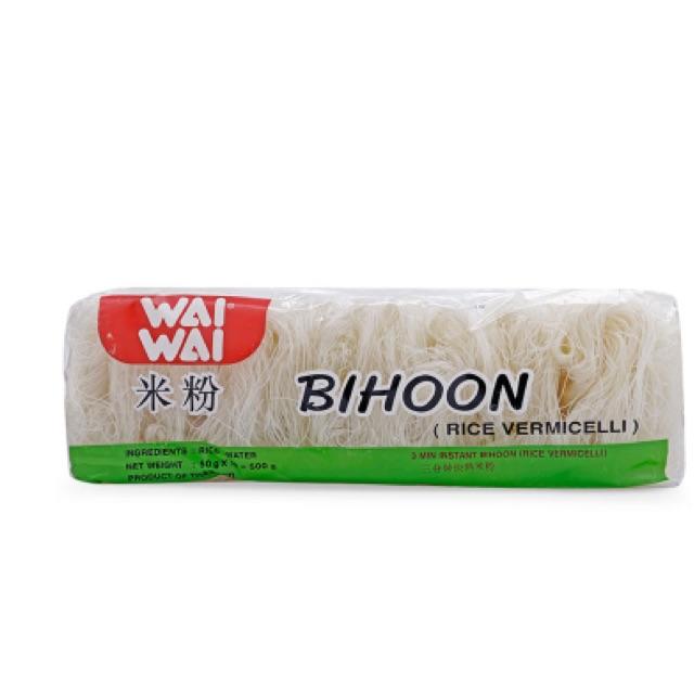 Bún gạo khô Wai Wai Bihoon Thái Lan 500g