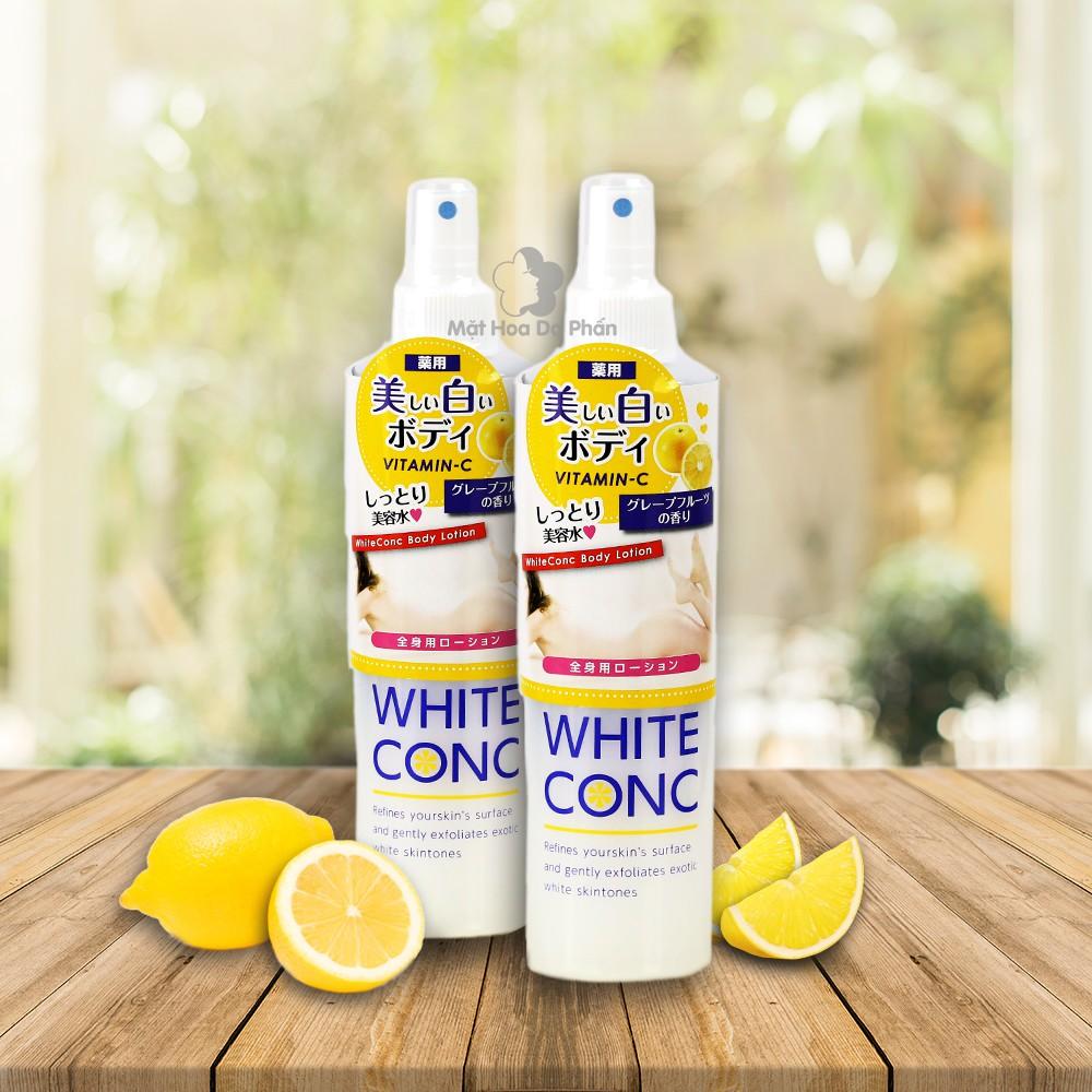 Xịt dưỡng trắng da thoàn thân White Conc 245ml Nhật Bản