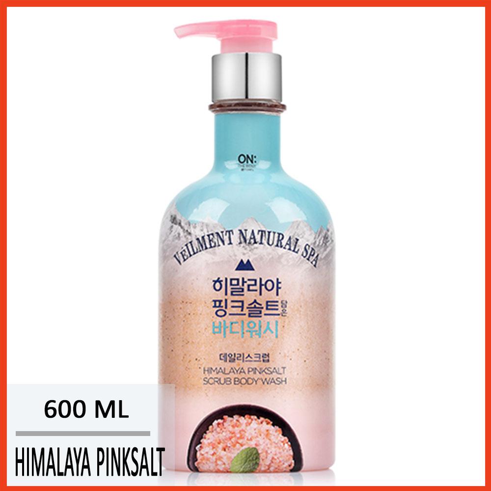 Sữa tắm hạt Véilment Natural Spa muối hồng 600g Hàn Quốc