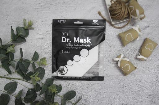 Khẩu trang Dr. Mask 4 lớp có van thở 3D S4