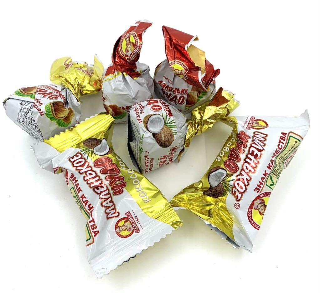 2021.33 Kẹo cân socola hạt dẻ Mavehbkoe Nga