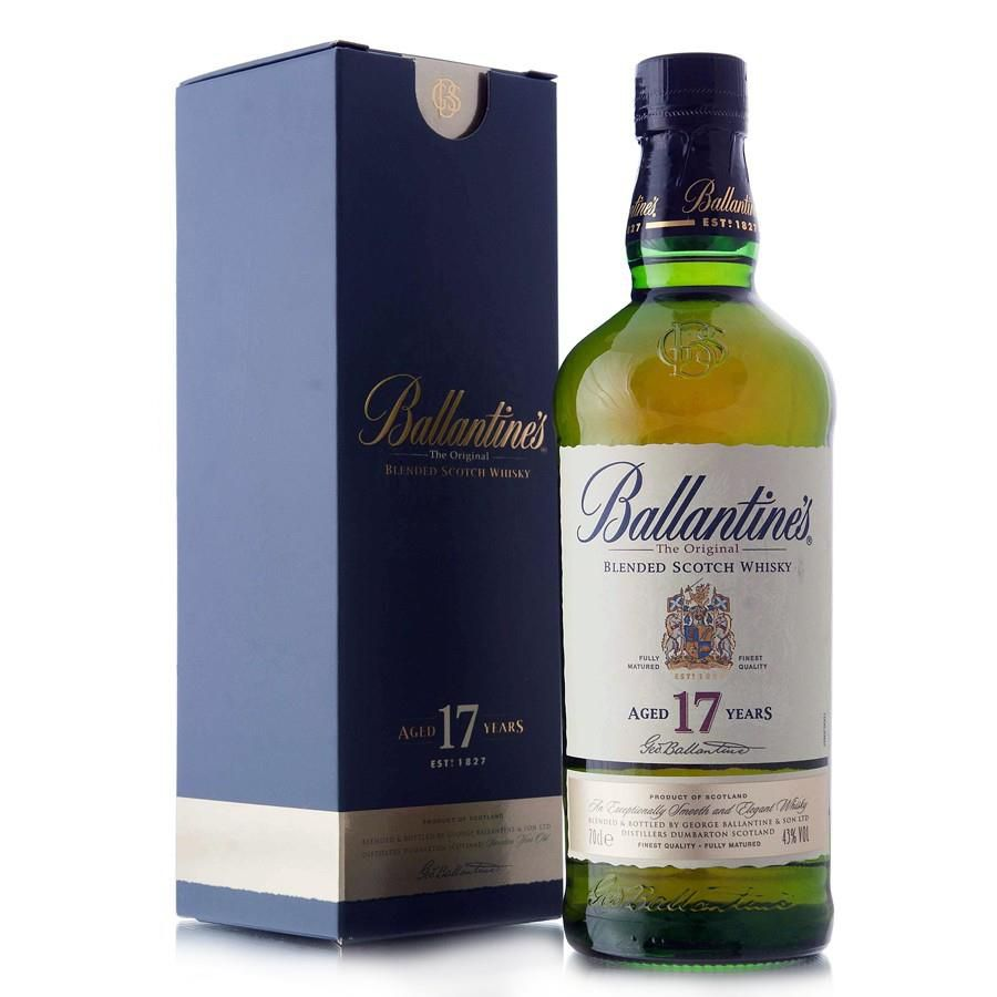 Rượu Whisky Ballantines 17 Years 40% Scotland 700ml