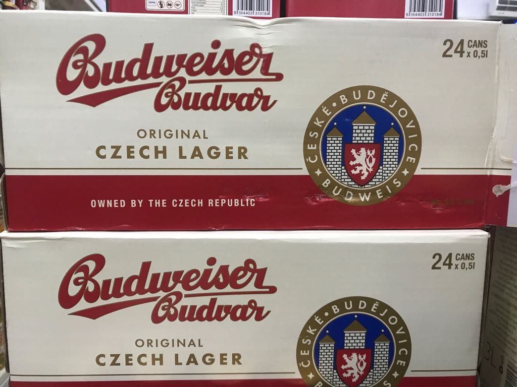 Bia Budweiser Budvar Original Tiệp (giá thùng) 500ml *24lon