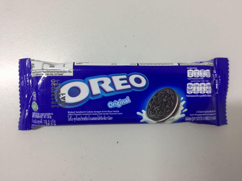 Bánh quy socola Oreo vị vani 28,5g
