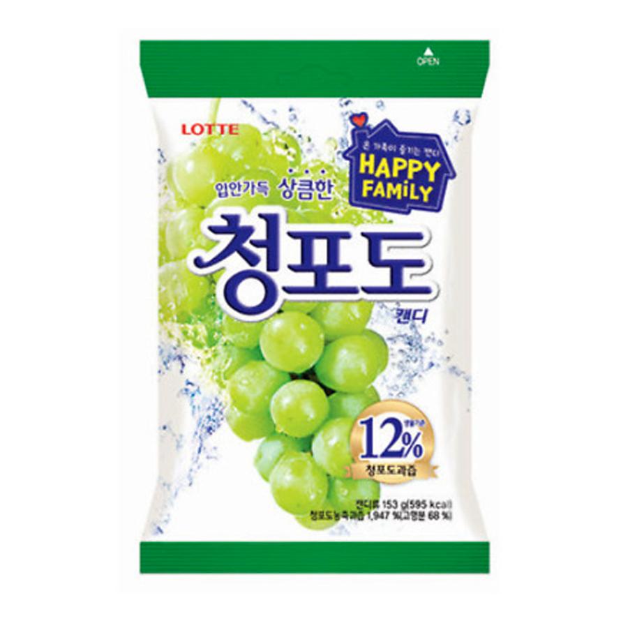 Kẹo nho xanh Happy Family Lotte Hàn Quốc 153g
