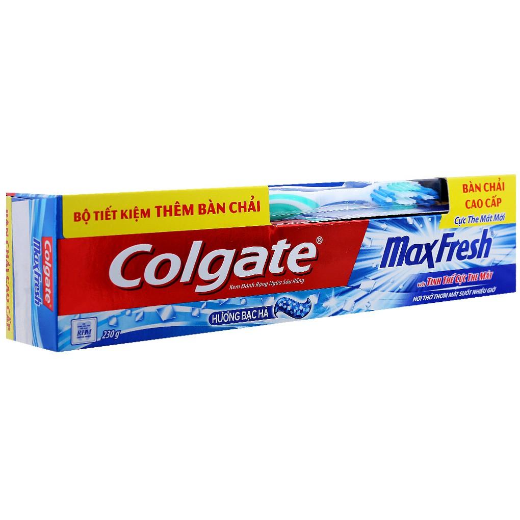 Kem đánh răng colgate mát lạnh bạc hà 200g + Bàn chải