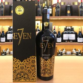 Rượu vang đỏ Seven Merlot 15.5% Italia 750ml