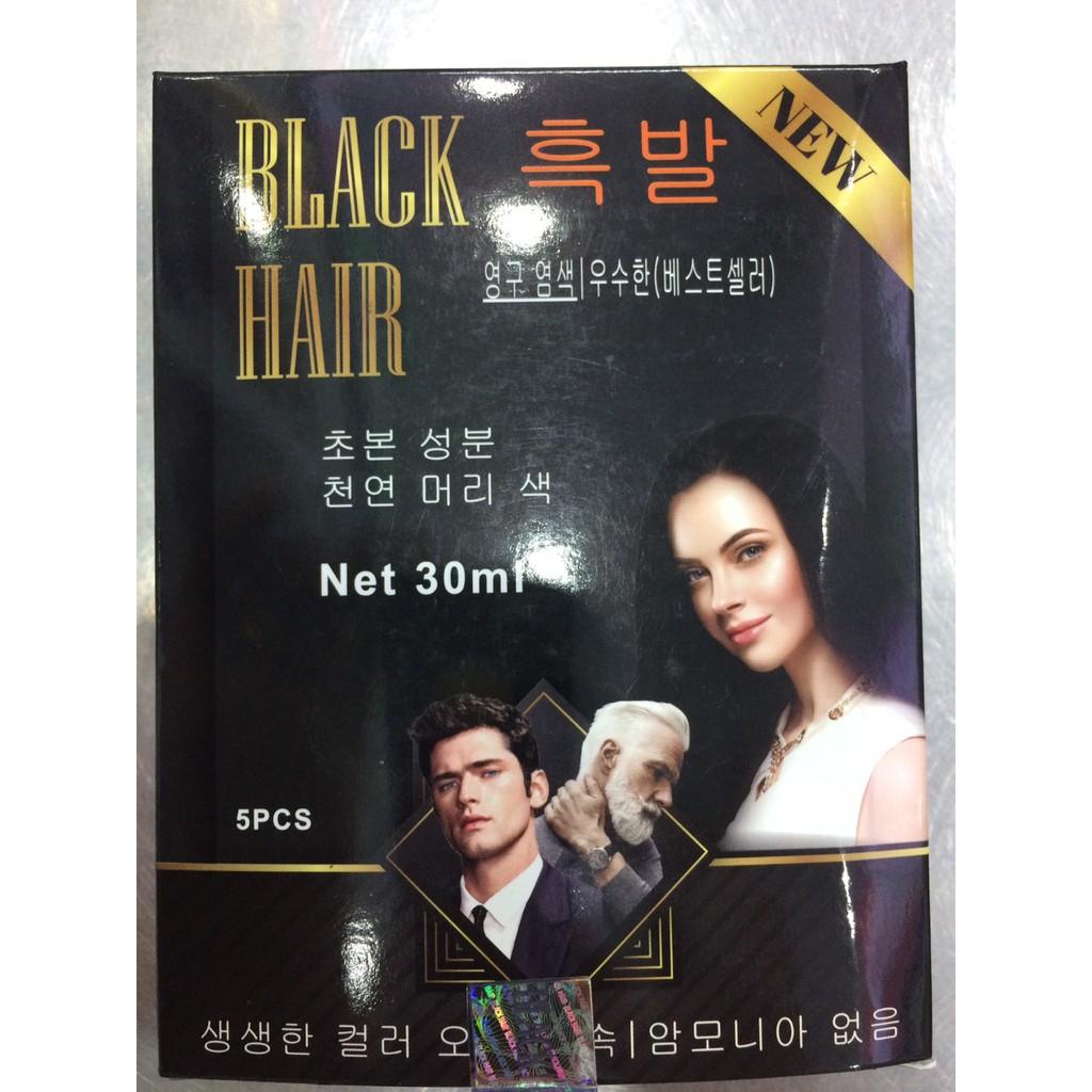 Dầu gội đen tóc Black Hair 30ml*5 Hàn Quốc