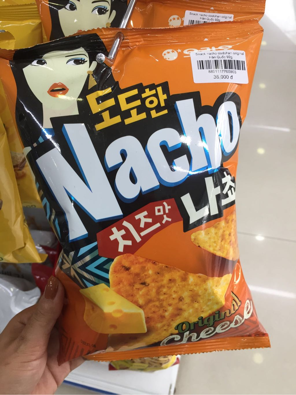 Snack nacho dodohan original Hàn Quốc 92g