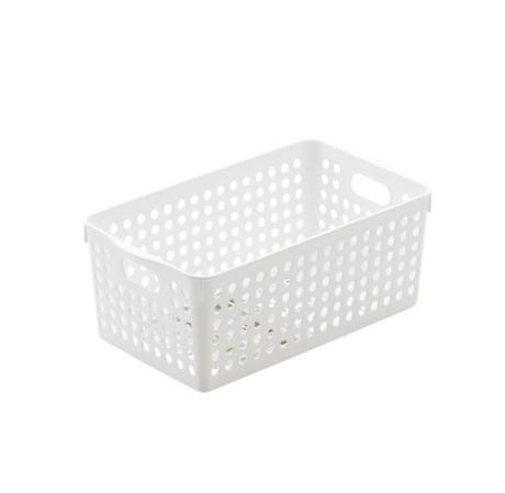 Rổ đựng đồ gia dụng cỡ trung màu trắng STOCK DEEP In4571 Nhật Bản