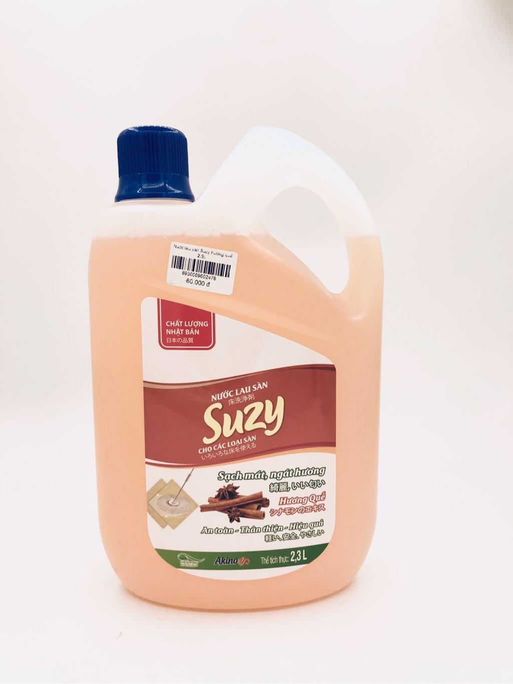 Nước lau sàn Suzy hương quế 2.3L