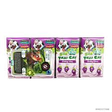 SK sữa kun trái cây nho 110ml*48 hộp