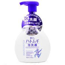Sữa rửa mặt tạo bọt dưỡng ẩm sáng da Hatomugi 160ml Nhật Bản
