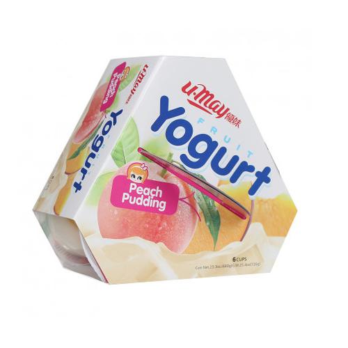 Thạch Umay yogurt vị đào 660g*6h