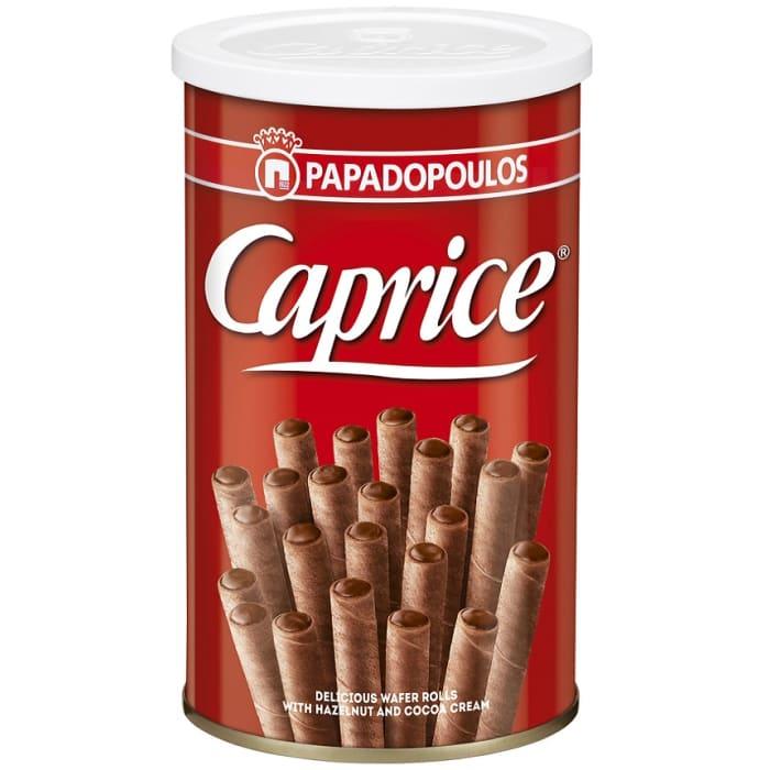 Bánh quế nhân kem cacao và hạt phỉ Caprice 115g Hy Lạp