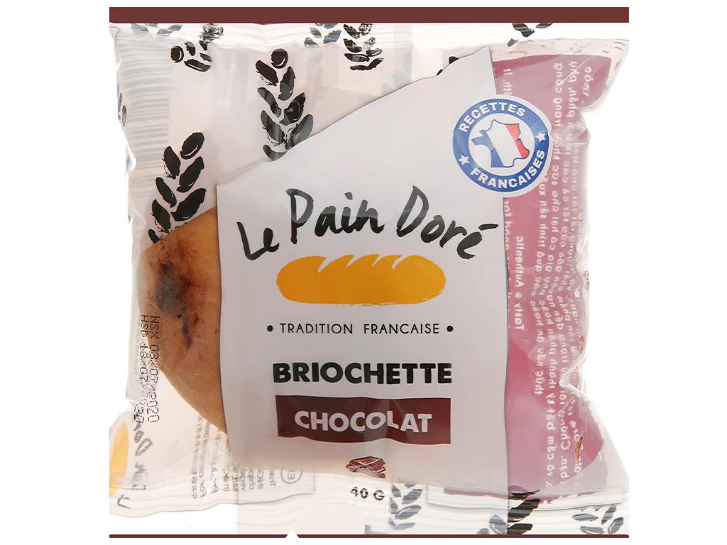 Bánh mì briochette chocolate Le Pain Dore gói 40g