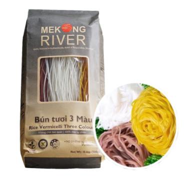 Bún tươi 3 màu Mekong River 300g
