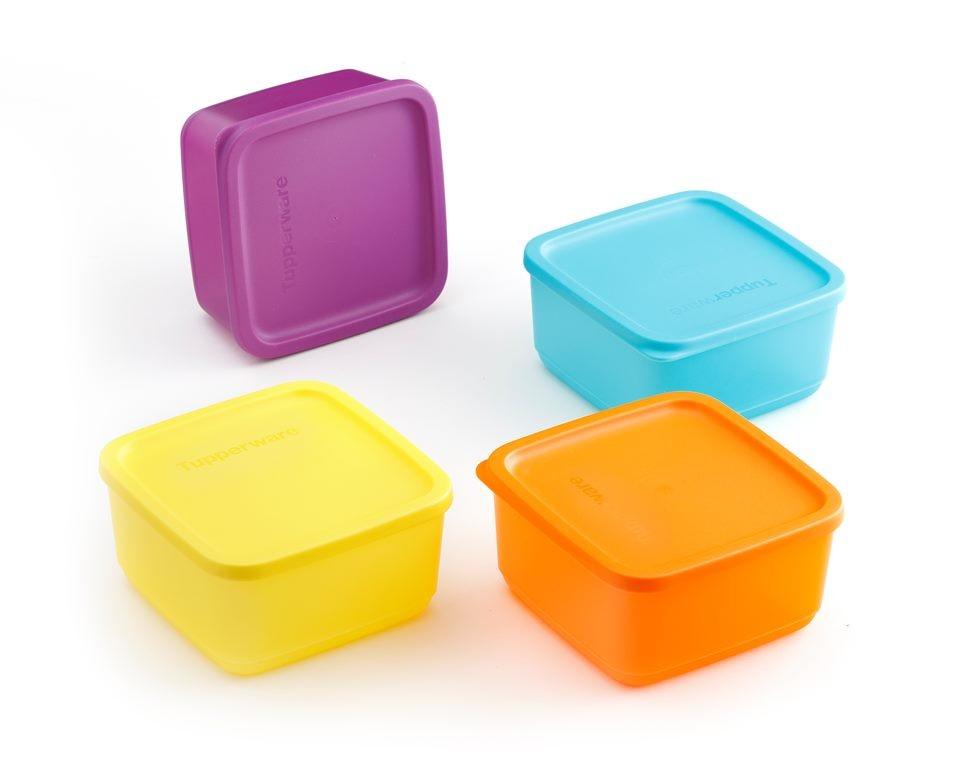 Bộ 4 hộp Tupperware đựng ngăn mát 4 màu 650ml