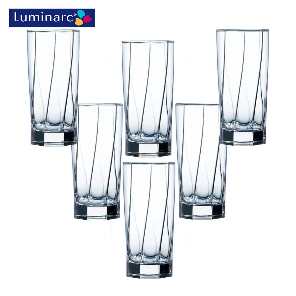Bộ 6 cốc cao thuỷ tinh Luminarc Aeternam 320ml