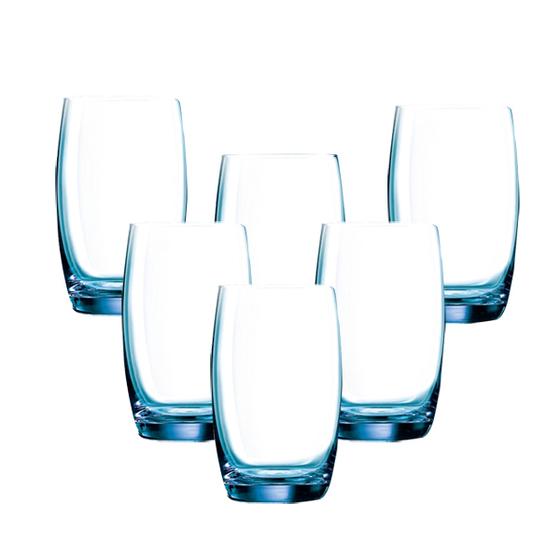 Bộ 6 cốc cao thuỷ tinh Luminarc Salto Blue 350ml