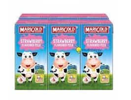 Sữa tươi Singapore MariGold vị dâu tây 200ml * 24 hộp/thùng