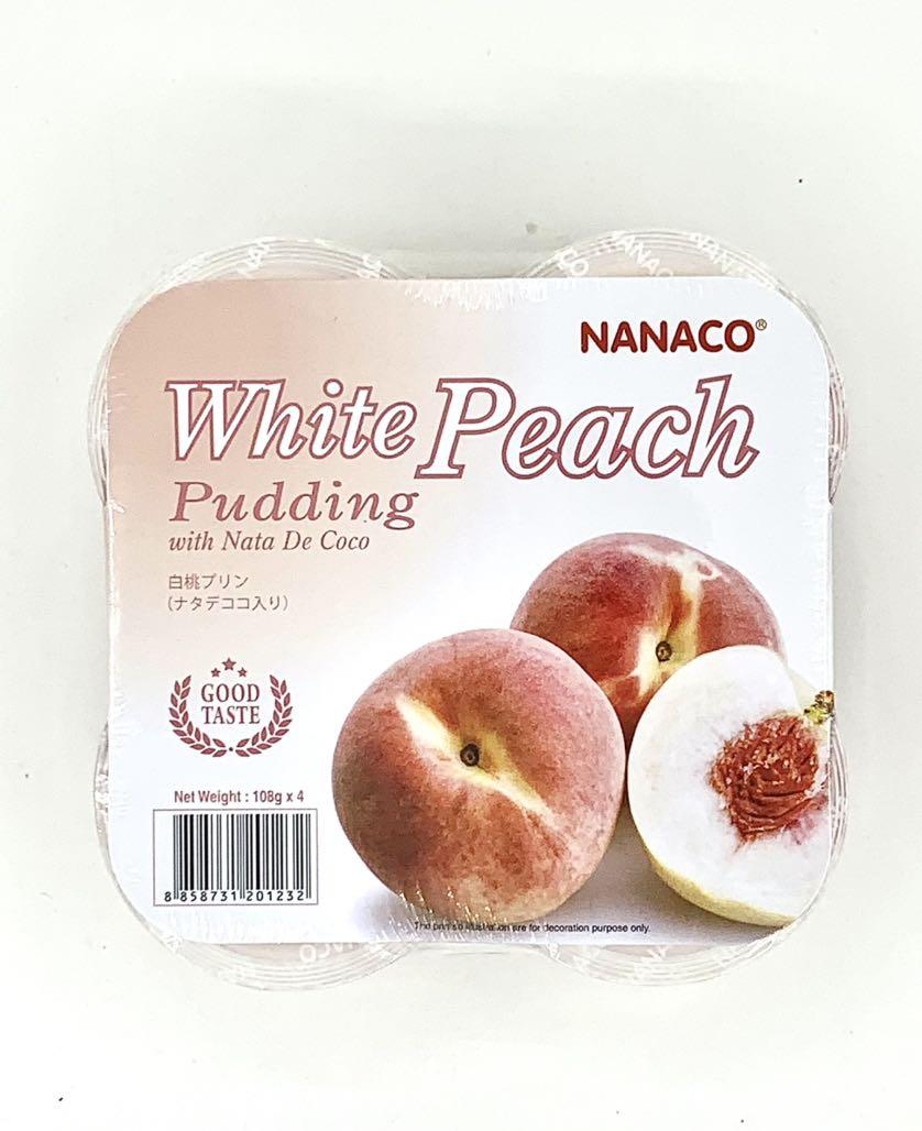 Thạch pudding dừa vị đào Nanaco 108g