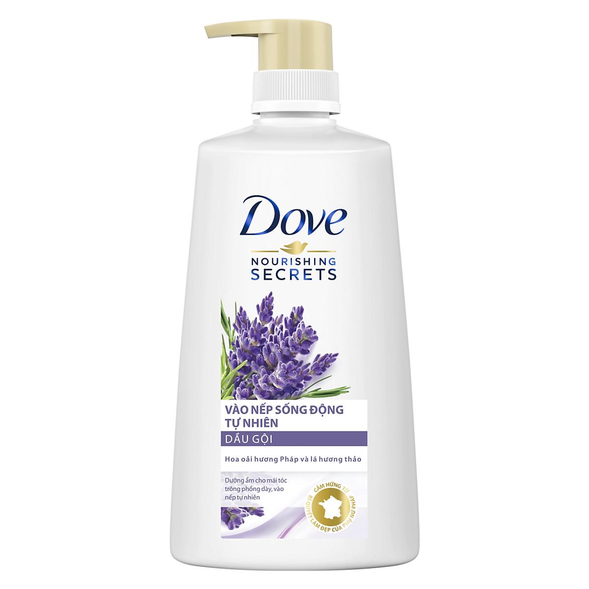 Dove dầu gội vào nếp sống động tự nhiên 650g