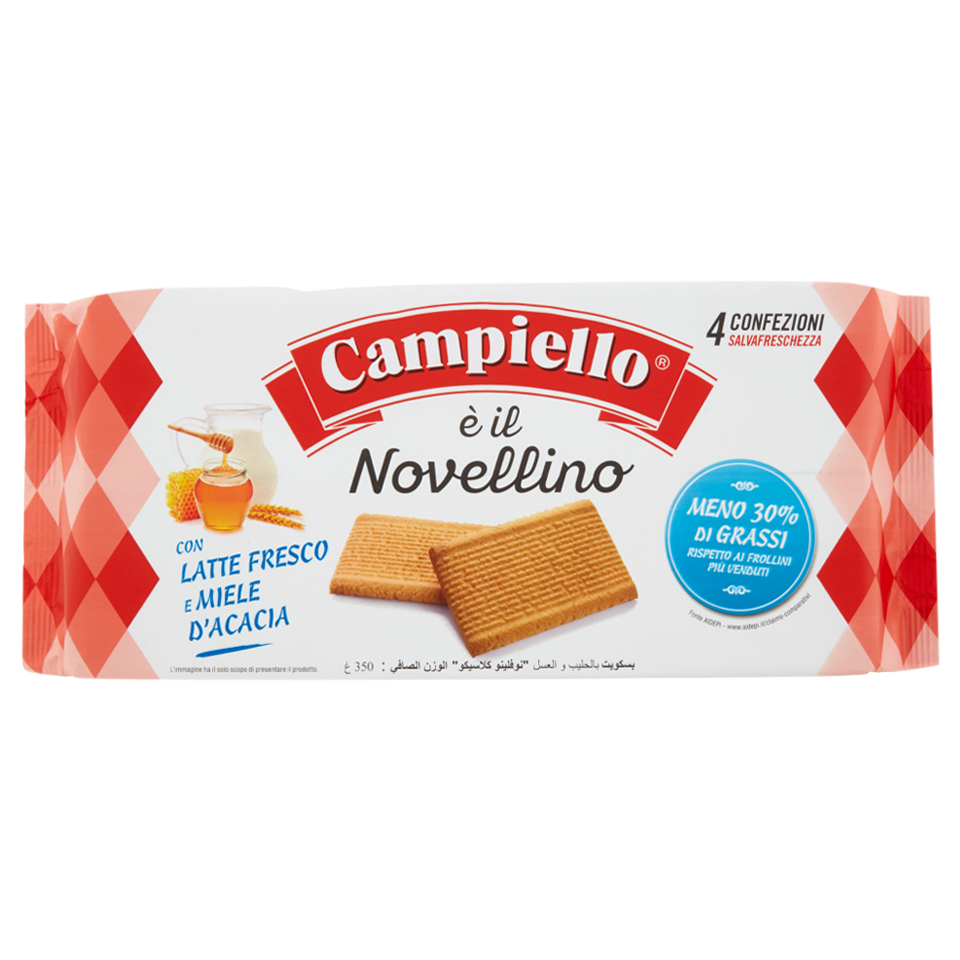 Bánh quy sữa mật ong Campiello Ý 350g