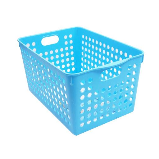 Rổ đựng đồ gia dụng cỡ trung màu xanh da trời STOCK DEEP In4571 Nhật Bản