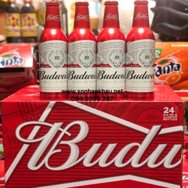 Bia Budweiser chai nhôm 355ml ( 24 chia/Thùng )
