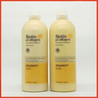 Dầu gội Biotin&Collagen VOUDIOTY  phục hồi và kích thích mọc tóc 1000ml Italy