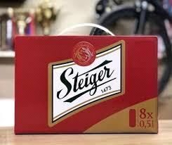 Xách bia 8 lon*500ml Steiger hộp quà Tiệp