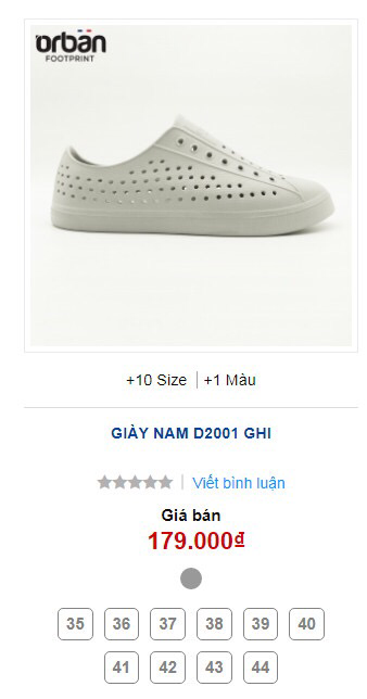 Giày Orban D2001 màu ghi 10 size 35-44